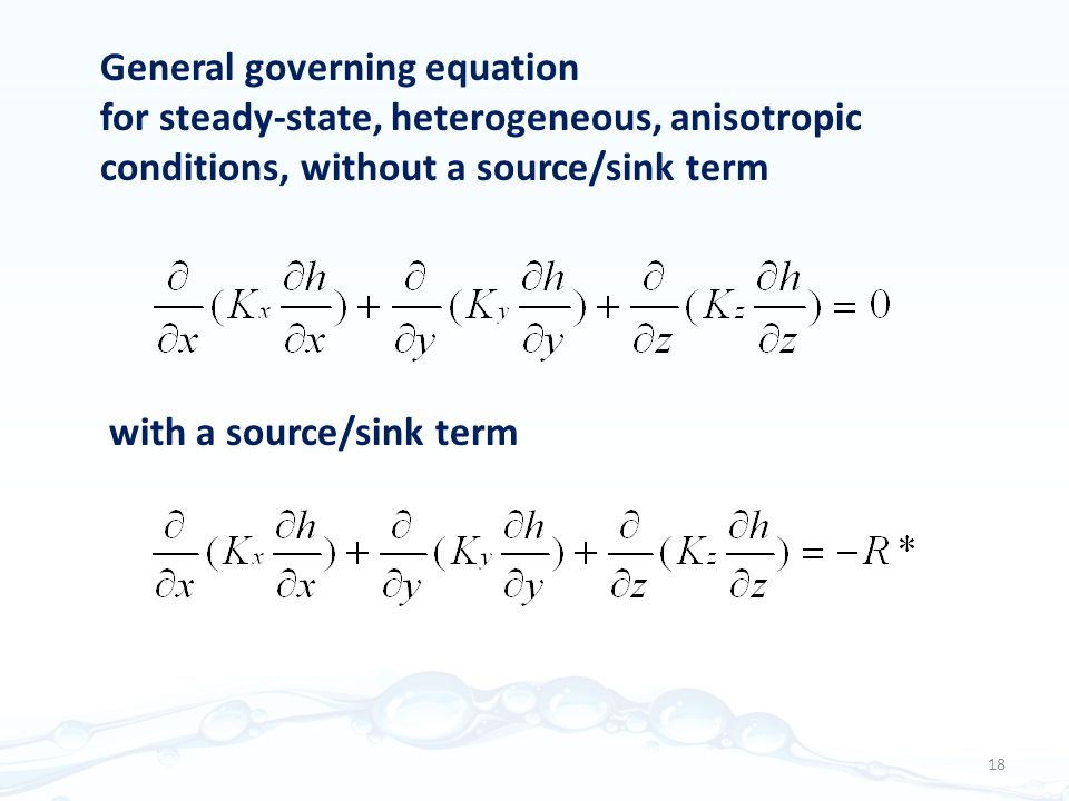 General governing equation