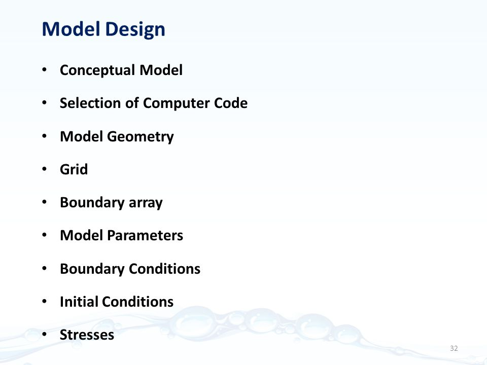 Model Design Conceptual Model Selection of Computer Code