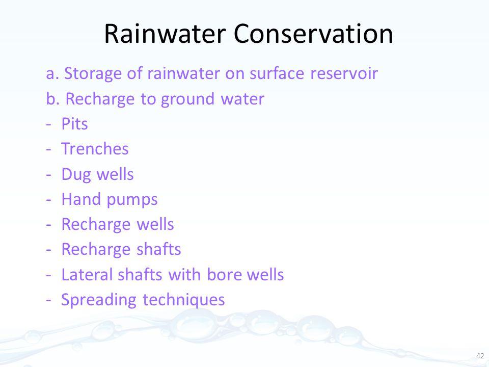 Rainwater Conservation
