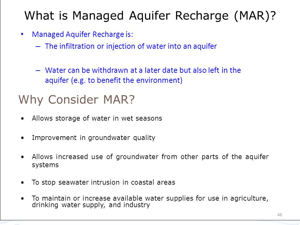 What is Managed Aquifer Recharge (MAR)