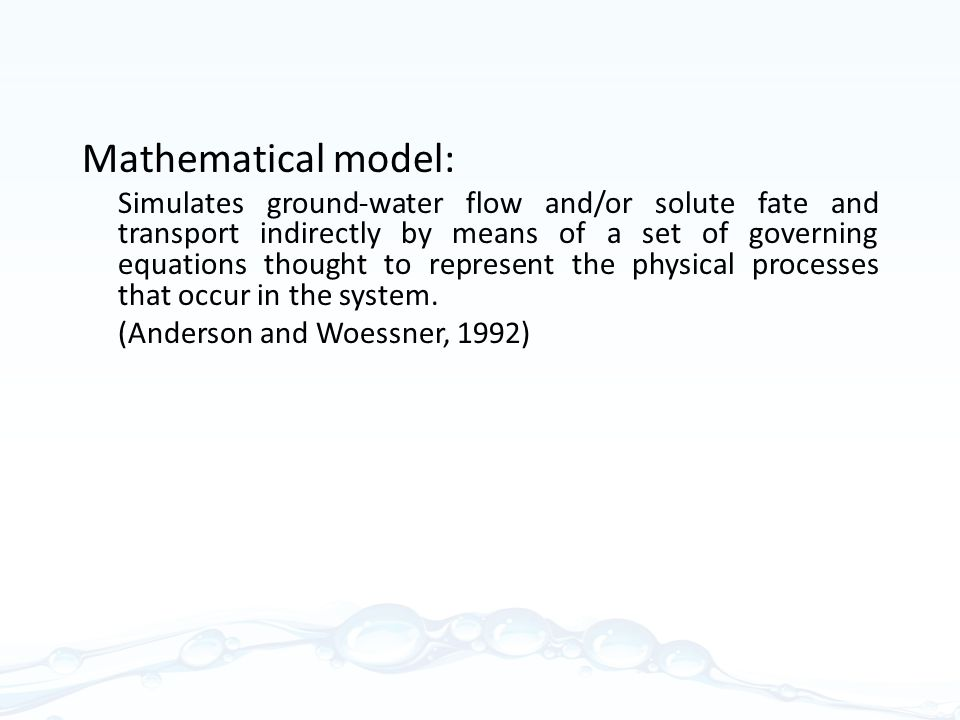 Mathematical model: