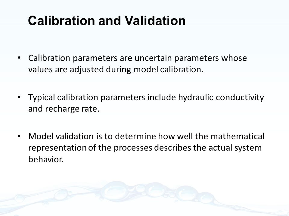 Calibration and Validation