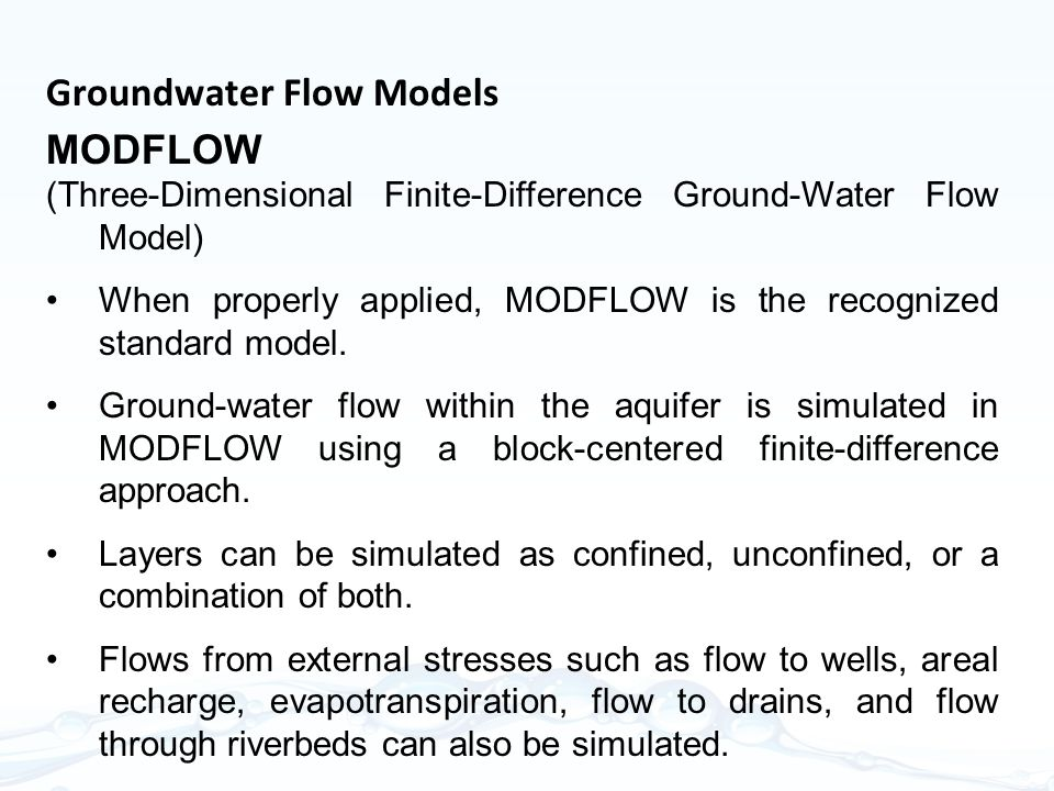 Groundwater Flow Models MODFLOW