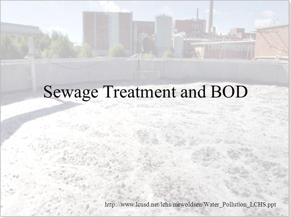 Sewage Treatment and BOD