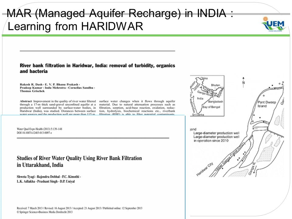 MAR (Managed Aquifer Recharge) in INDIA : Learning from HARIDWAR
