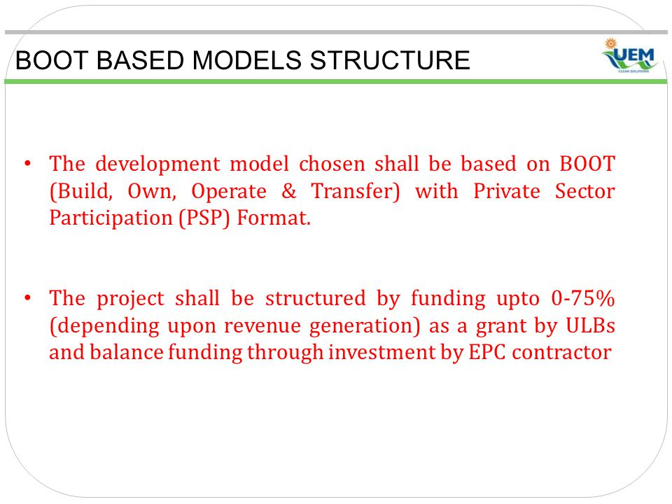 BOOT BASED MODELS STRUCTURE