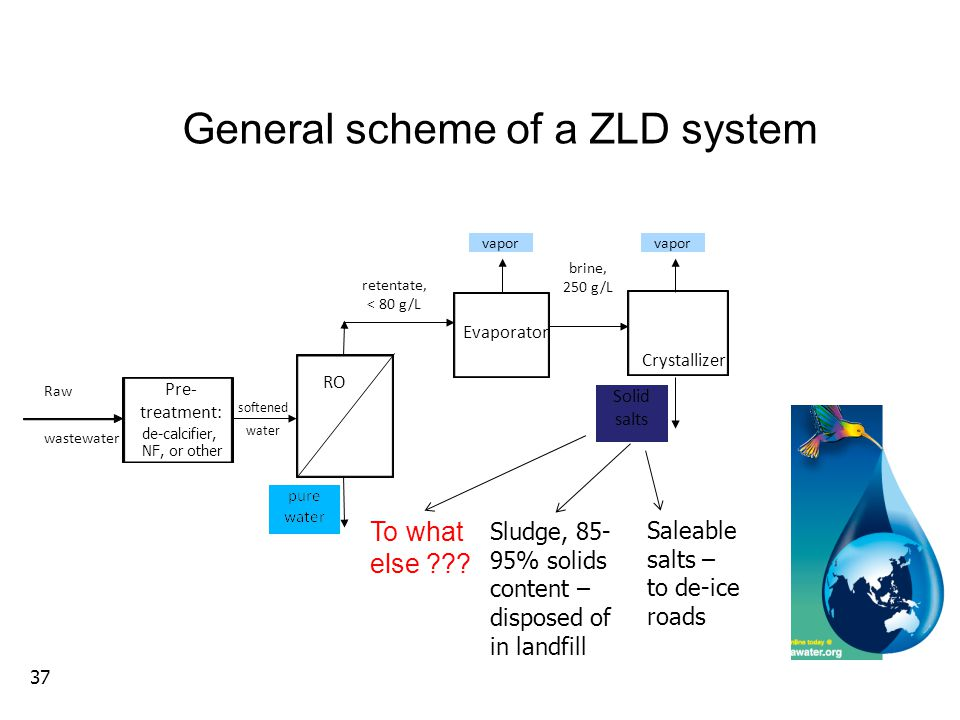 General scheme of a ZLD system