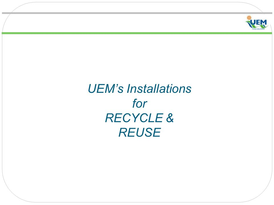 UEM's Installations for