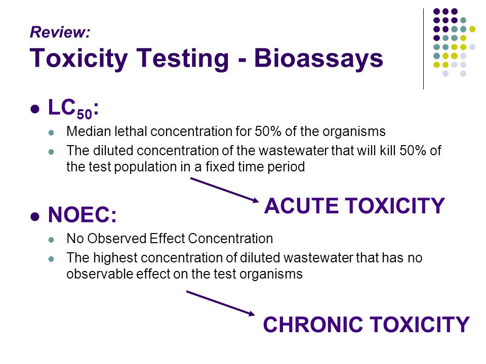 Review: Toxicity Testing - Bioassays