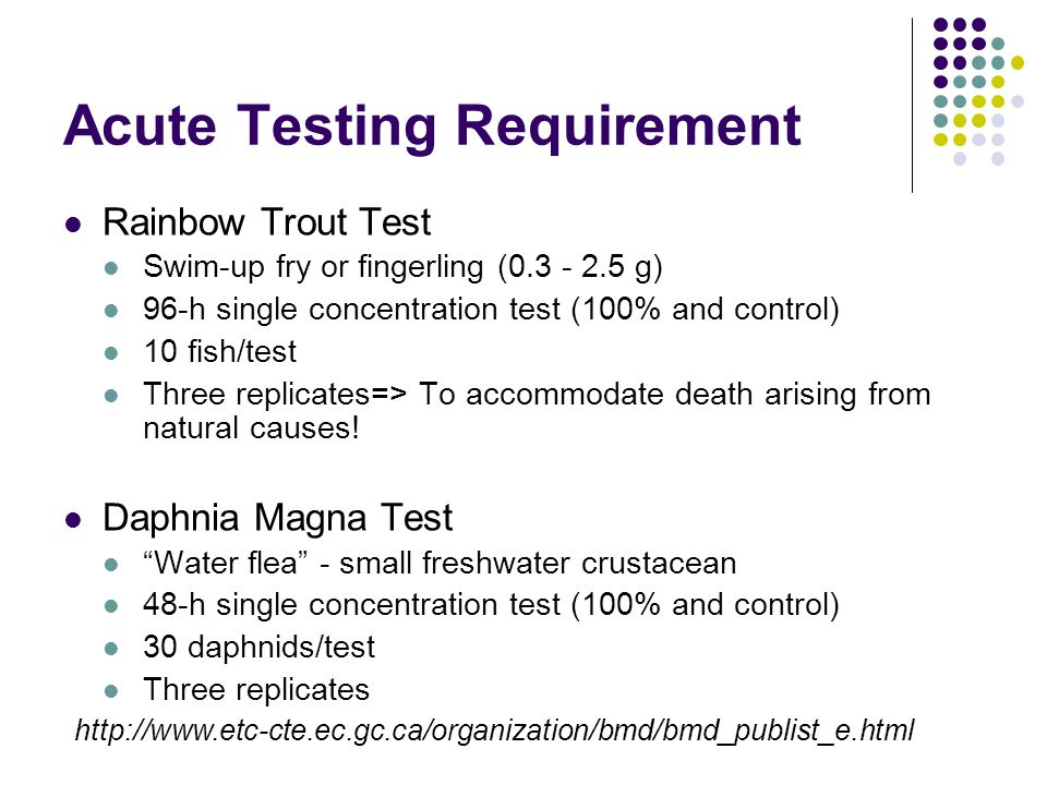 Acute Testing Requirement