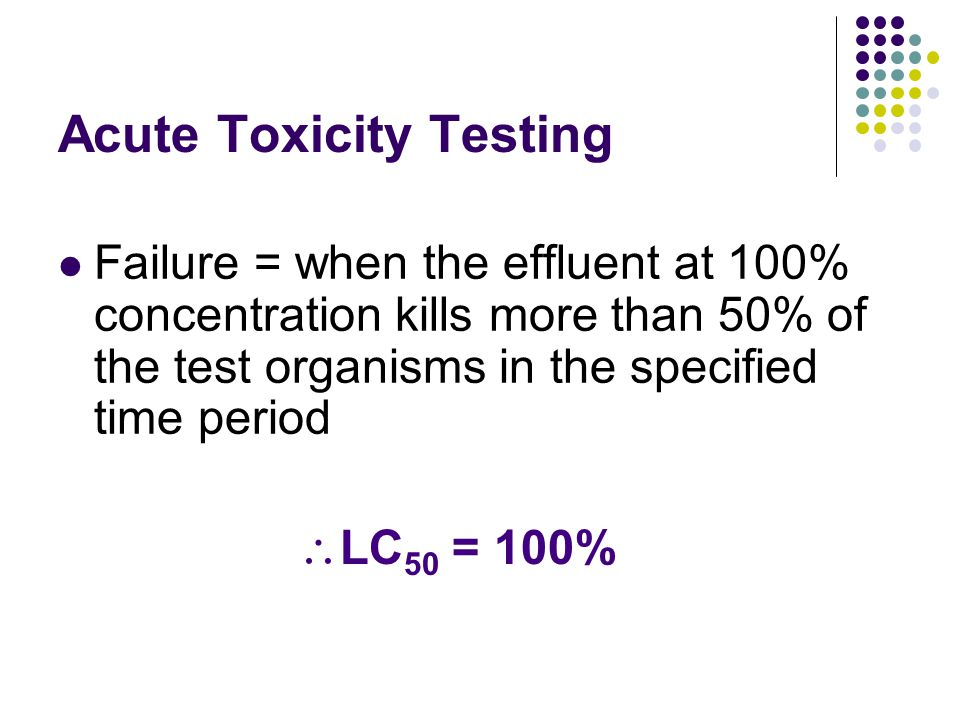 Acute Toxicity Testing