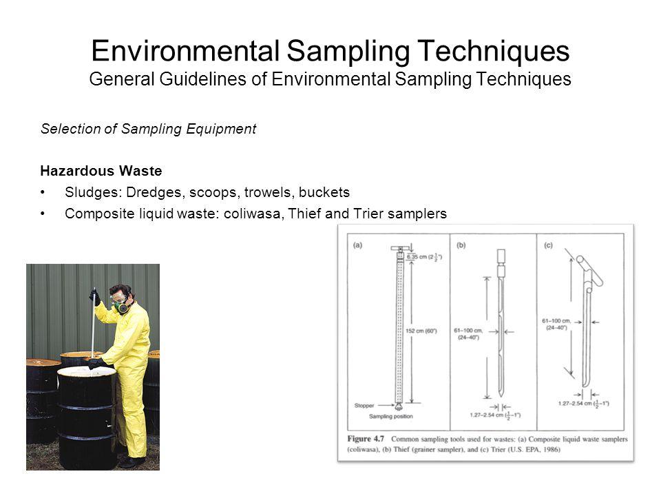 Environmental Sampling Techniques General Guidelines of Environmental Sampling Techniques