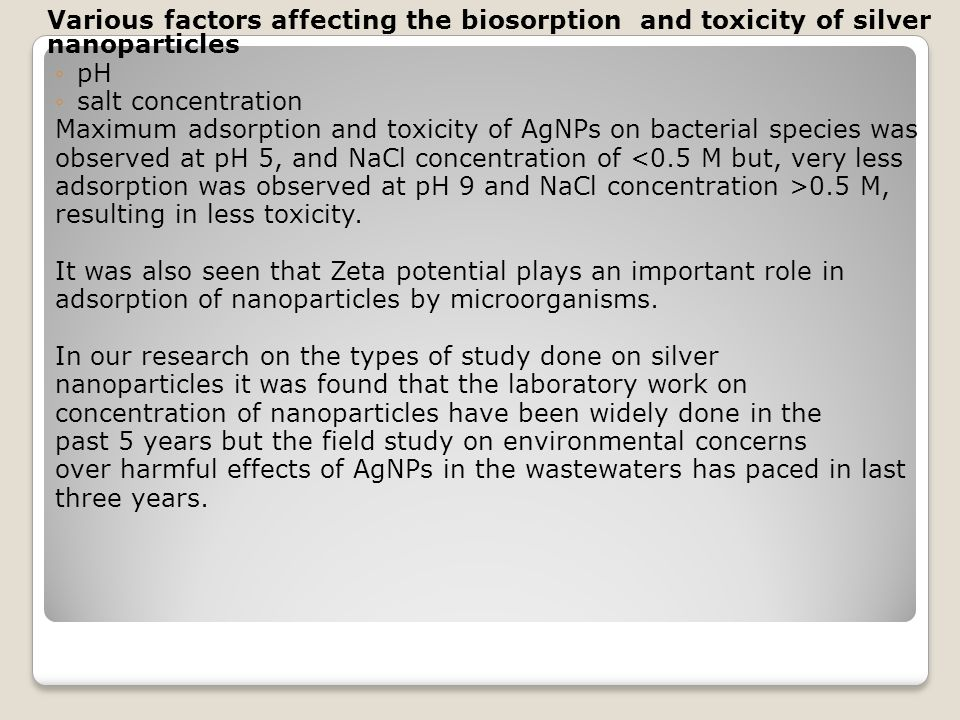 Maximum adsorption and toxicity of AgNPs on bacterial species was