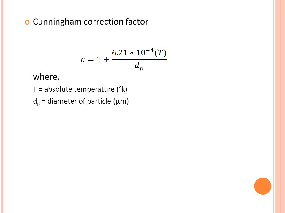 Cunningham correction factor