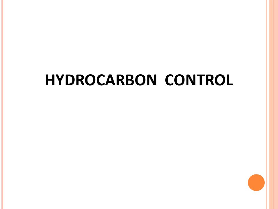 HYDROCARBON CONTROL