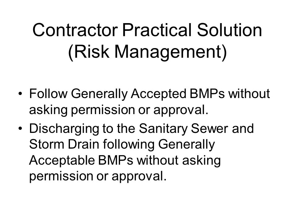 Contractor Practical Solution (Risk Management)