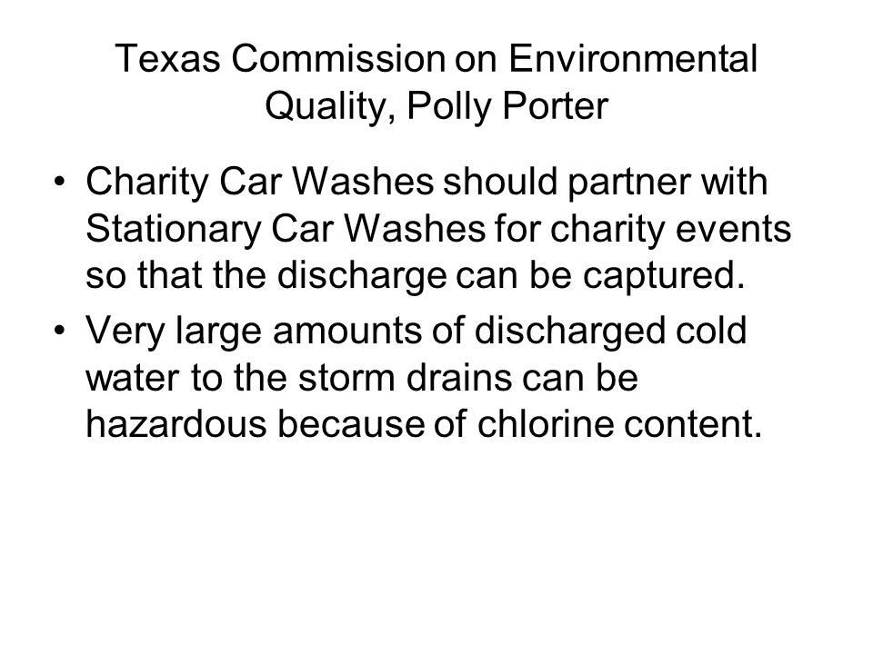 Texas Commission on Environmental Quality, Polly Porter