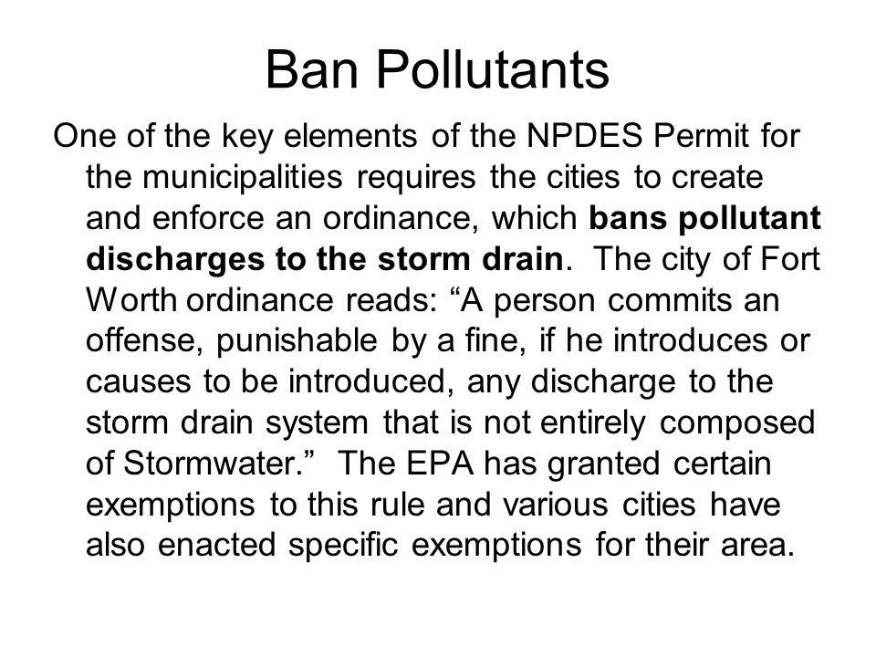 Ban Pollutants