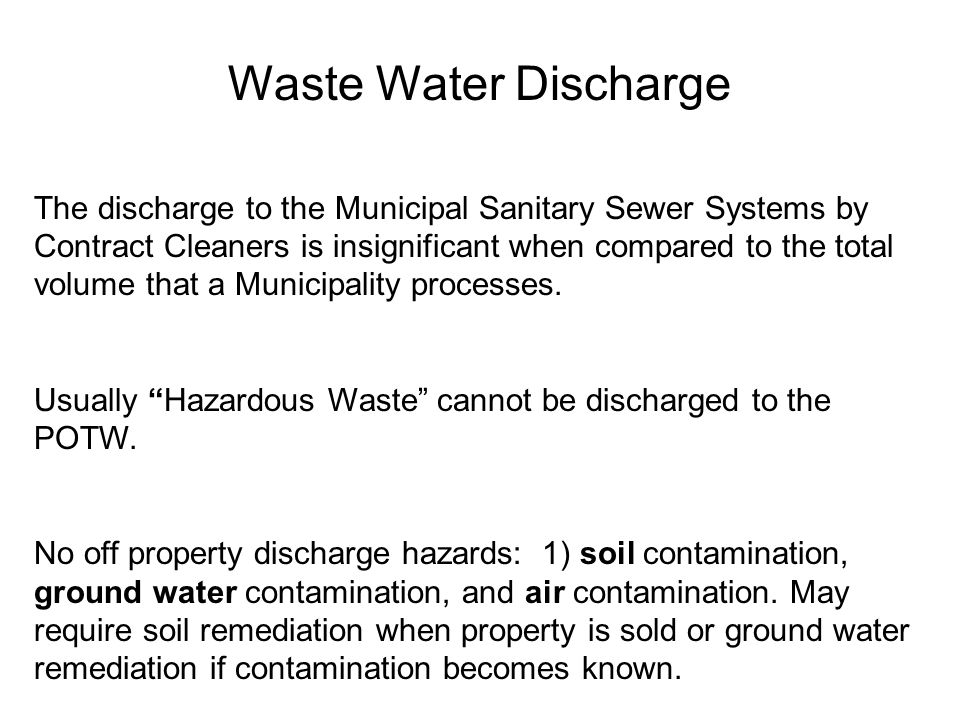 Waste Water Discharge