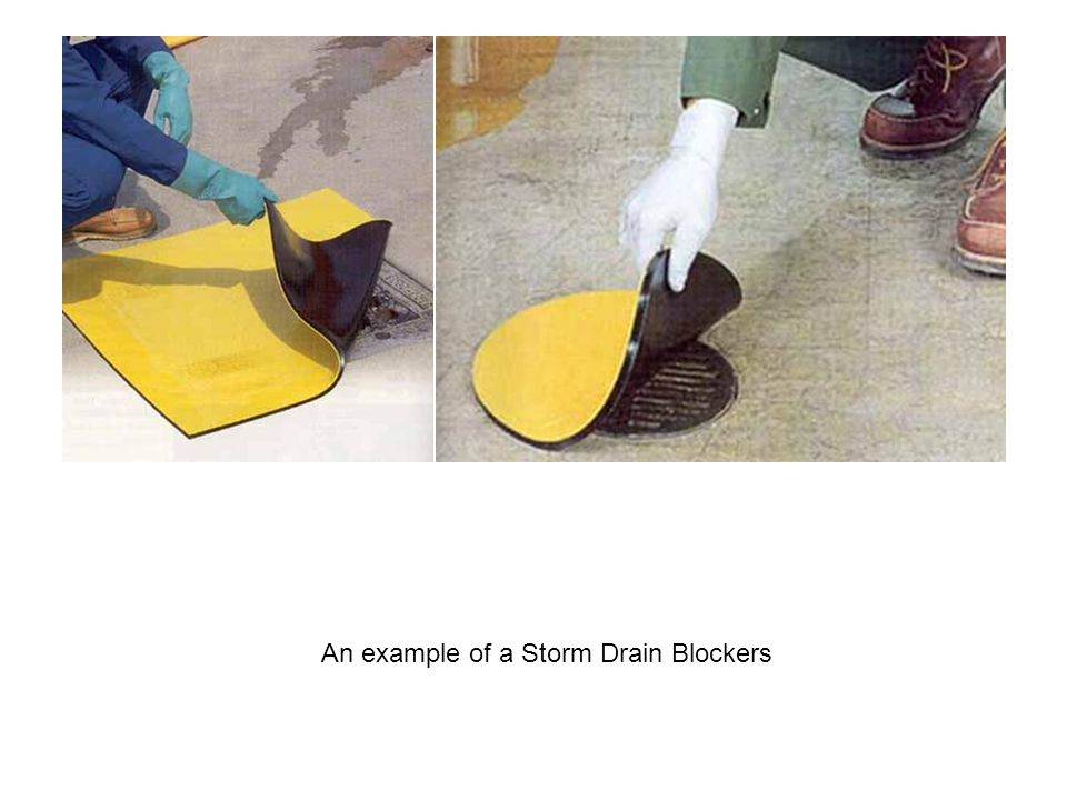 An example of a Storm Drain Blockers