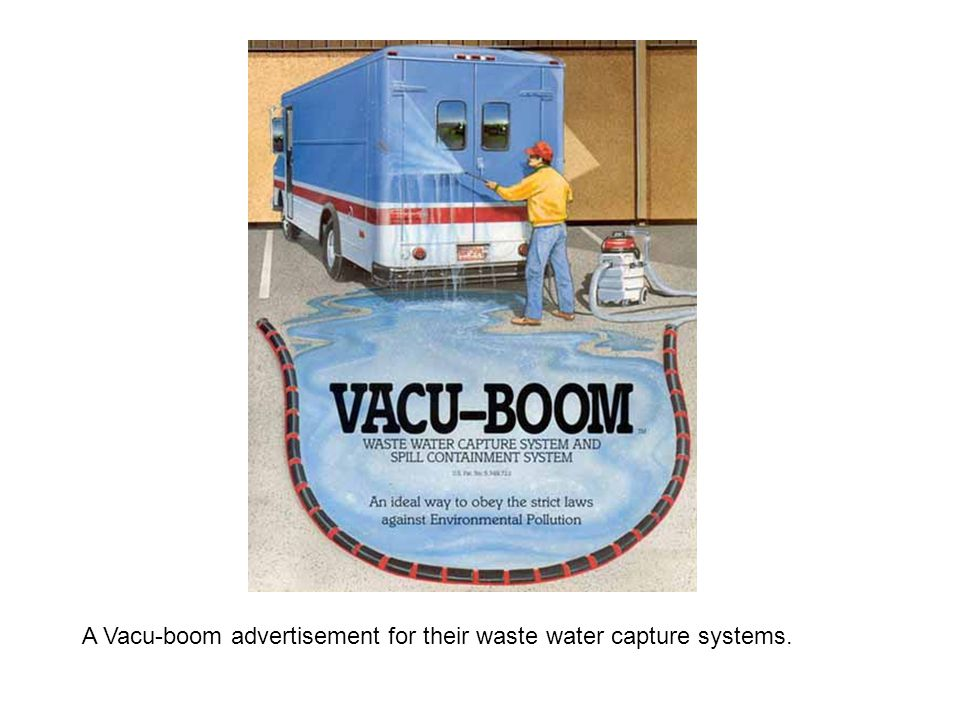 A Vacu-boom advertisement for their waste water capture systems.