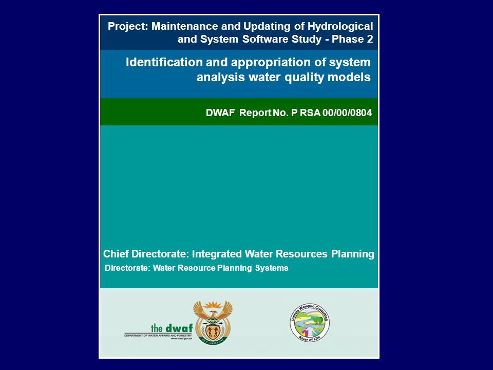 Project: Maintenance and Updating of Hydrological and System Software Study - Phase 2