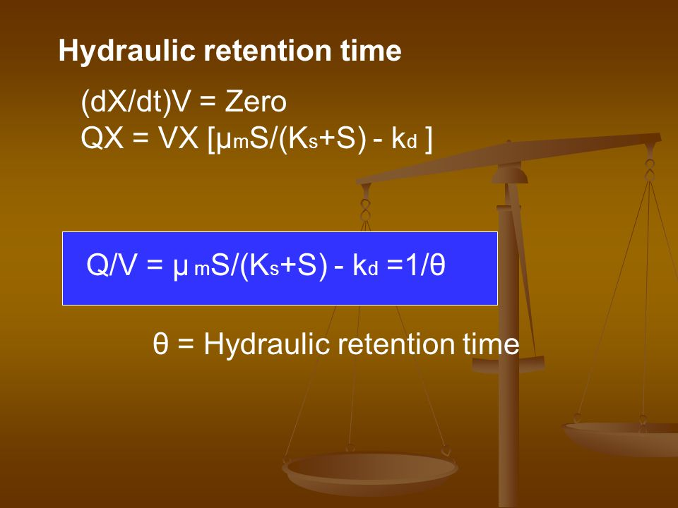 Hydraulic retention time