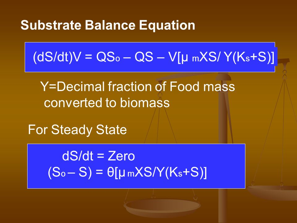 Substrate Balance Equation