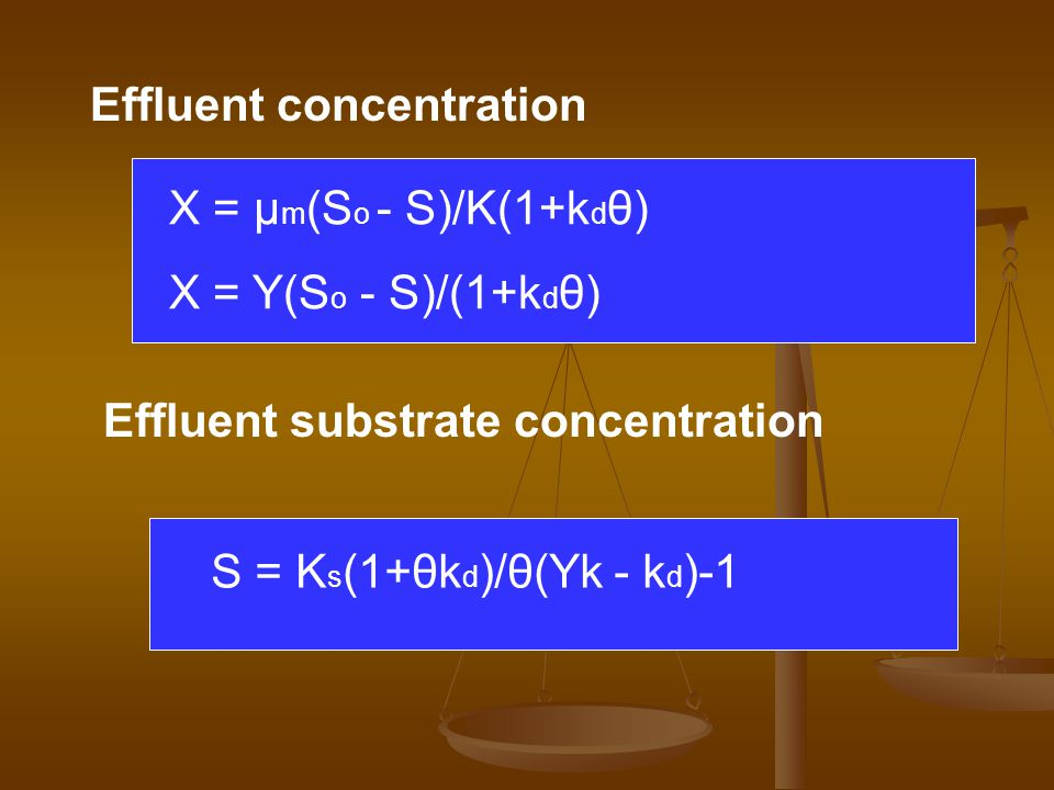 Effluent concentration