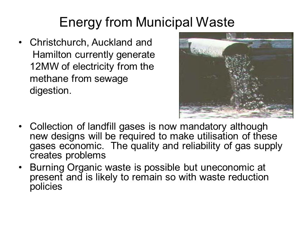 Energy from Municipal Waste