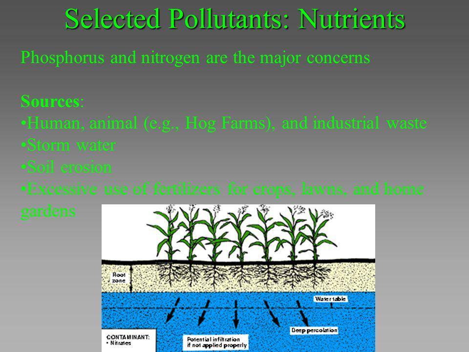 Selected Pollutants: Nutrients