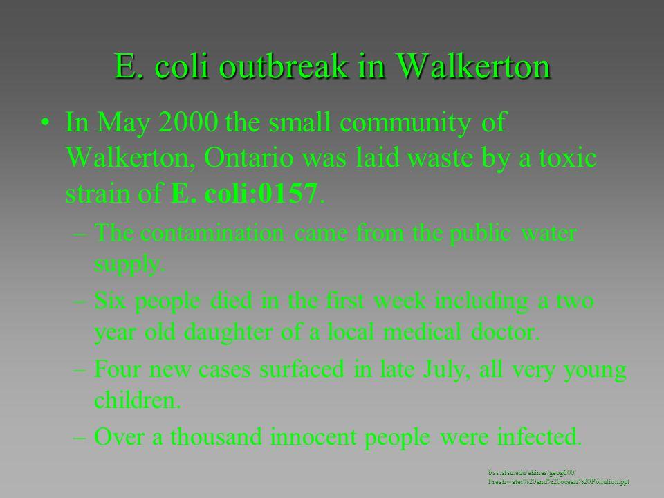E. coli outbreak in Walkerton