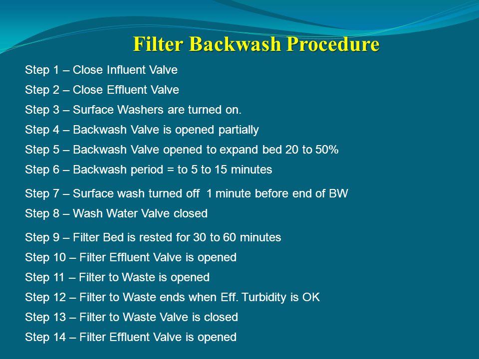 Filter Backwash Procedure