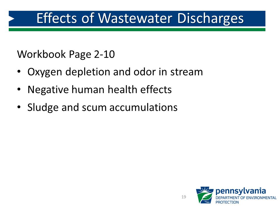 Effects of Wastewater Discharges