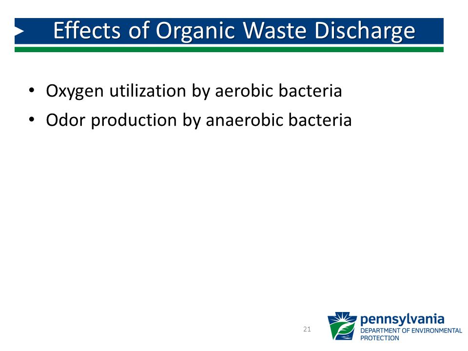 Effects of Organic Waste Discharge