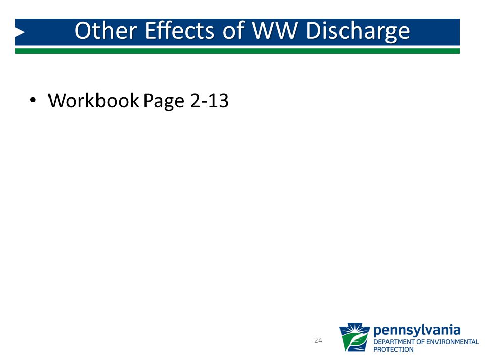 Other Effects of WW Discharge