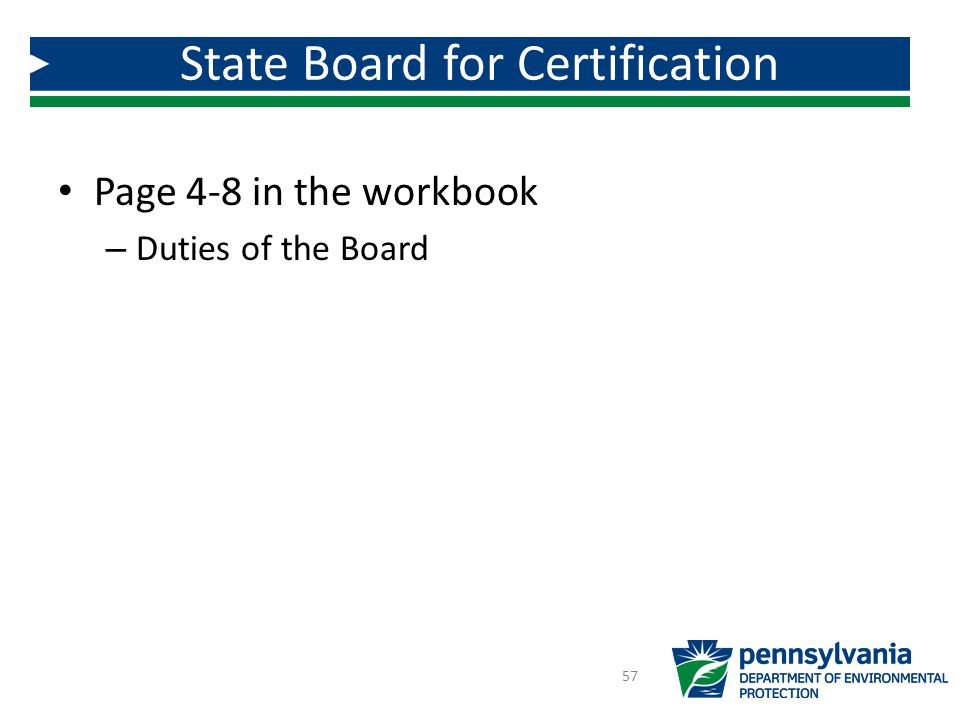 State Board for Certification