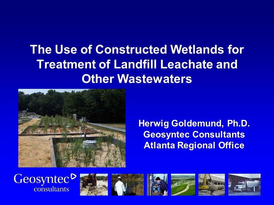 Herwig Goldemund, Ph.D. Geosyntec Consultants Atlanta Regional Office