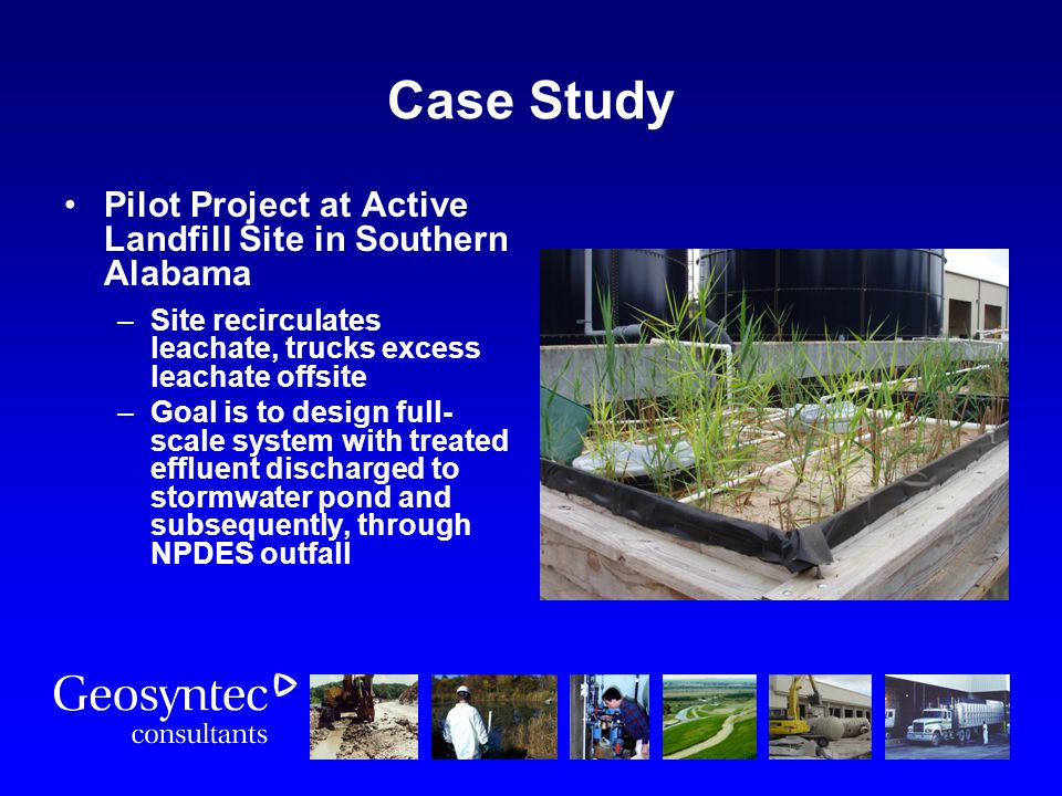 Case Study Pilot Project at Active Landfill Site in Southern Alabama