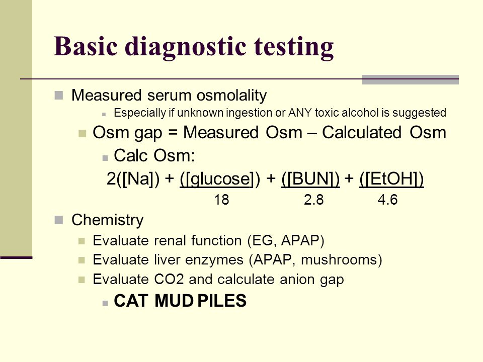 Basic diagnostic testing