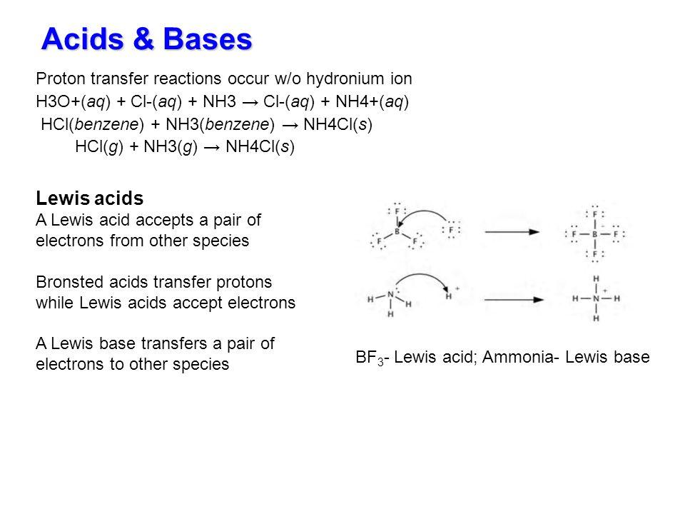 Acids & Bases Lewis acids