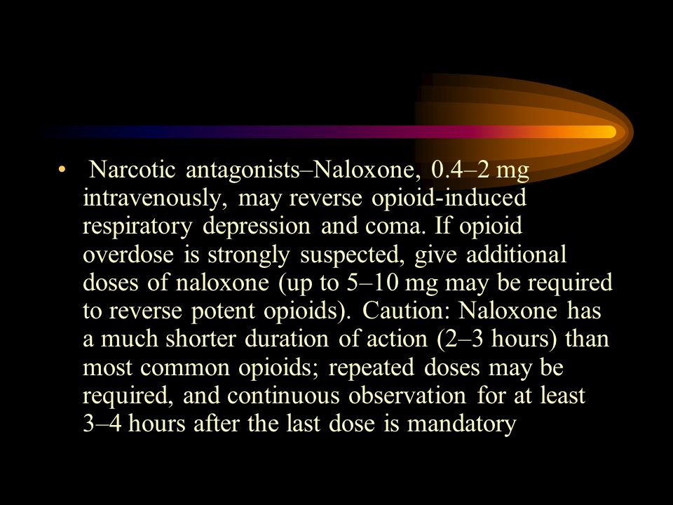 Narcotic antagonists–Naloxone, 0