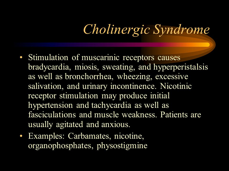 Cholinergic Syndrome