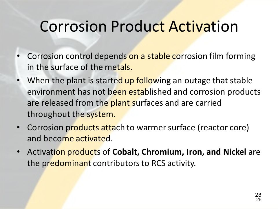 Corrosion Product Activation