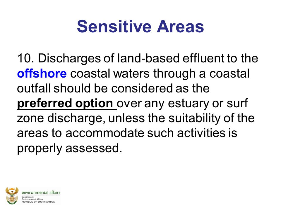 Sensitive Areas
