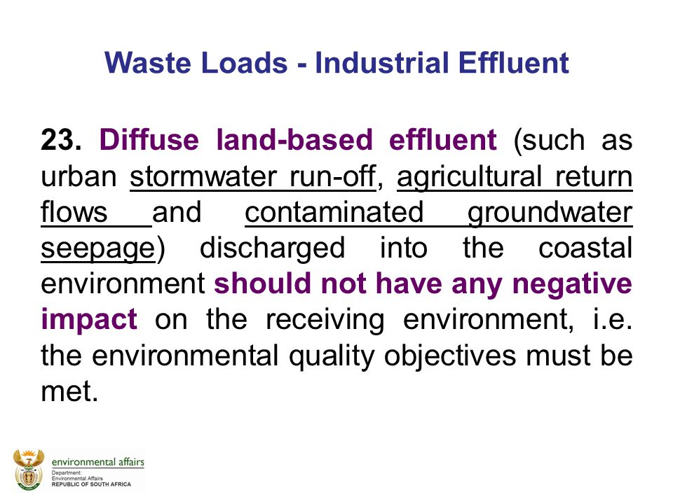 Waste Loads - Industrial Effluent