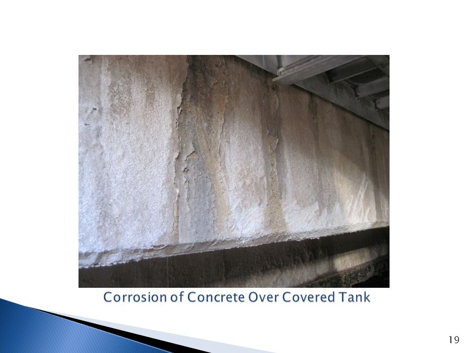 Concrete Walkway/Beam Over Covered Tank
