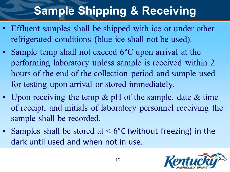 Sample Shipping & Receiving