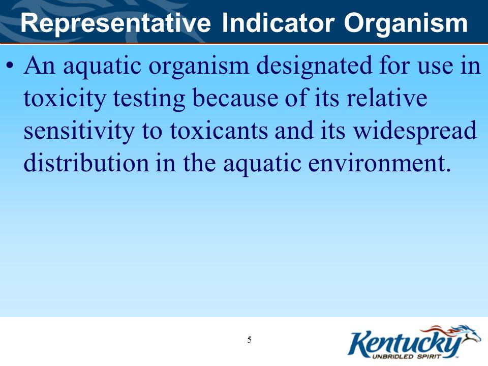 Representative Indicator Organism