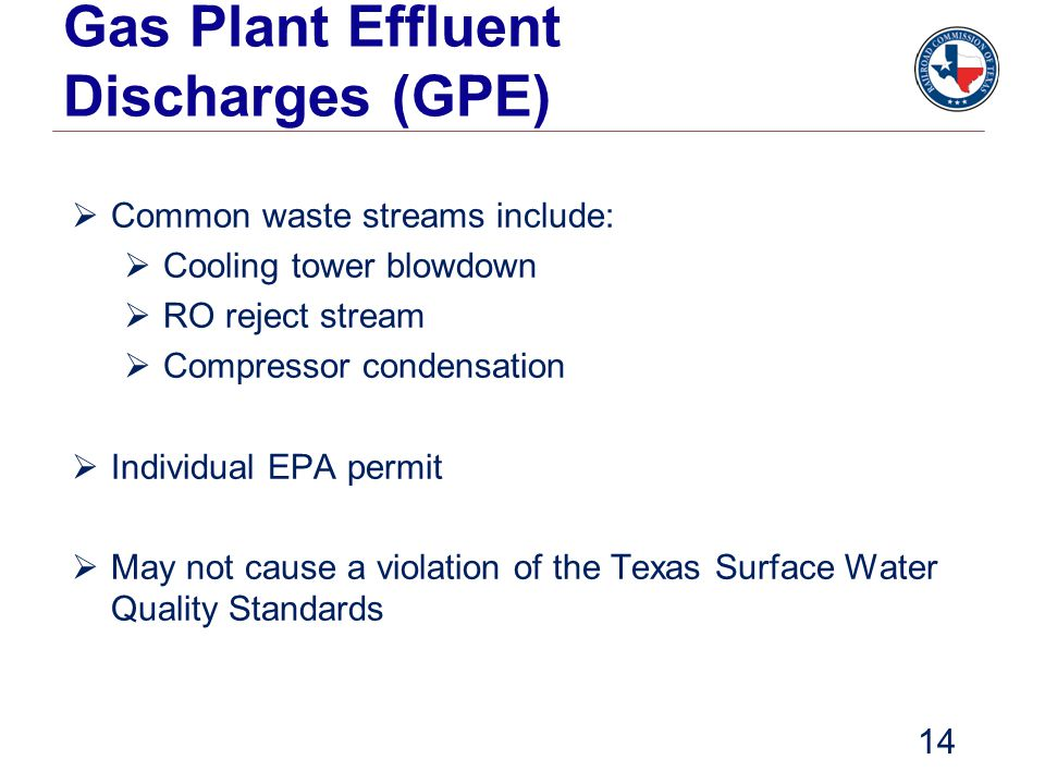 Gas Plant Effluent Discharges (GPE)